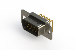 621-M09-260-WT1 - Right Angle D-Sub Connector