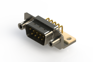 621-M09-260-WT6 - Right Angle D-Sub Connector