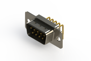 621-M09-360-BN1 - Right Angle D-Sub Connector