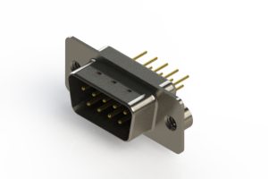 627-M09-220-BN2 - Vertical D-Sub Connector