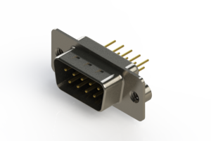627-M09-220-BT2 - Vertical D-Sub Connector