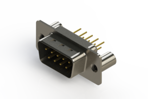 627-M09-220-BT3 - Vertical D-Sub Connector