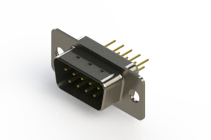 627-M09-220-GN1 - Vertical D-Sub Connector