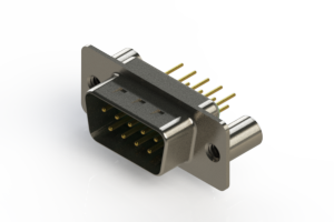 627-M09-220-GT3 - Vertical D-Sub Connector