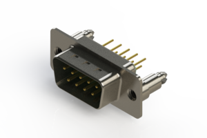 627-M09-220-GT5 - Vertical D-Sub Connector