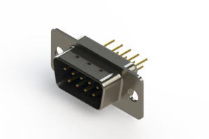 627-M09-220-LN1 - Vertical D-Sub Connector