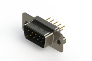 627-M09-220-LN2 - Vertical D-Sub Connector