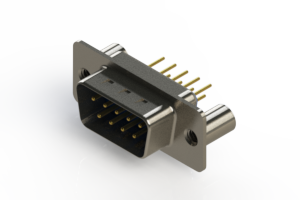 627-M09-220-LN3 - Vertical D-Sub Connector