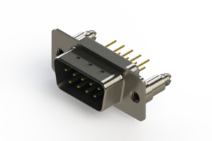 627-M09-220-LN5 - Vertical D-Sub Connector