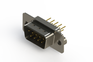 627-M09-220-WT2 - Vertical D-Sub Connector