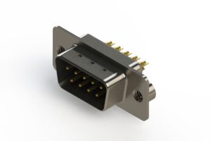 627-M09-222-BT2 - Vertical D-Sub Connector