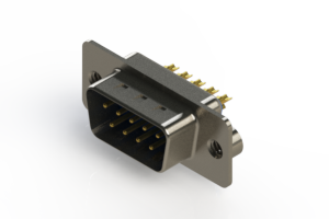 627-M09-222-LN2 - Vertical D-Sub Connector