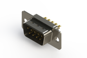 627-M09-222-WT1 - Vertical D-Sub Connector