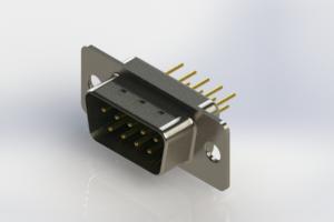 627-M09-320-GT1 - Vertical D-Sub Connector