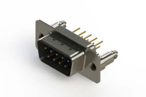 627-M09-320-LN5 - Vertical D-Sub Connector
