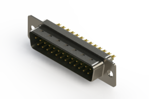 627-M25-622-GN1 - Vertical D-Sub Connector