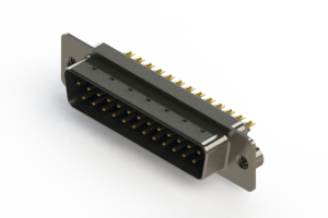 627-M25-622-LN2 - Vertical D-Sub Connector