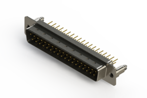 627-M37-220-BN5 - Vertical D-Sub Connector