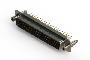 627-M37-220-BT6 - Vertical D-Sub Connector