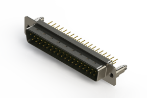 627-M37-220-GN5 - Vertical D-Sub Connector