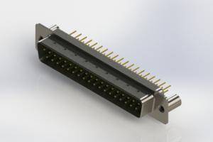 627-M37-220-GT3 - Vertical D-Sub Connector