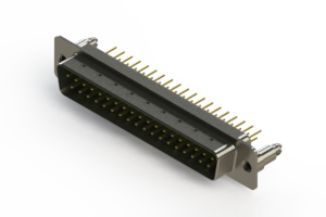 627-M37-220-GT5 - Vertical D-Sub Connector