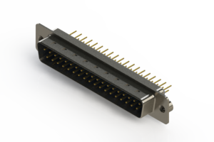 627-M37-220-LN2 - Vertical D-Sub Connector