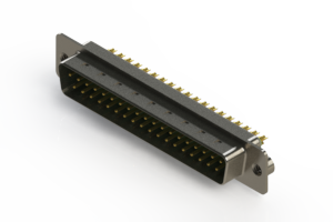 627-M37-222-GN2 - Vertical D-Sub Connector
