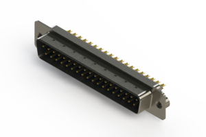 627-M37-222-LN2 - Vertical D-Sub Connector