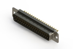 627-M37-222-WT1 - Vertical D-Sub Connector