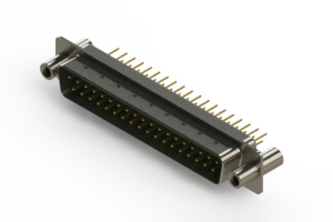 627-M37-320-GT4 - Vertical D-Sub Connector