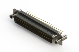 627-M37-320-WT4 - Vertical D-Sub Connector