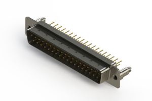 627-M37-320-WT5 - Vertical D-Sub Connector