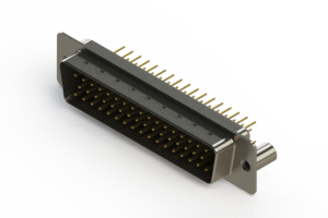 627-M50-220-BN3 - Vertical D-Sub Connector