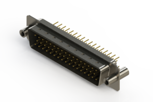 627-M50-220-BN4 - Vertical D-Sub Connector