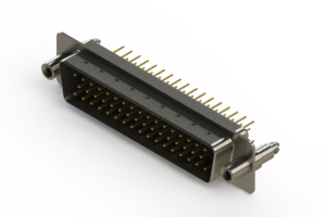 627-M50-220-BN6 - Vertical D-Sub Connector