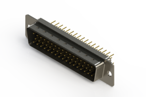 627-M50-220-BT1 - Vertical D-Sub Connector