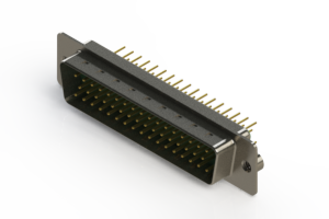 627-M50-220-GN2 - Vertical D-Sub Connector