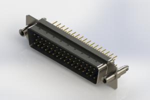 627-M50-220-LN6 - Vertical D-Sub Connector