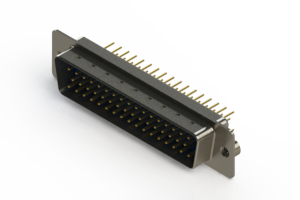 627-M50-220-LT2 - Vertical D-Sub Connector