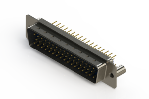 627-M50-220-LT3 - Vertical D-Sub Connector