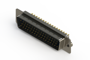 627-M50-622-LN2 - Vertical D-Sub Connector