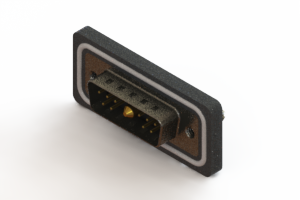 627W11W1324-4ND - Waterproof Vertical Combo Dsub