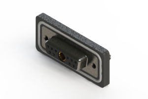 628W11W1324-4ND - Waterproof Vertical Combo Dsub