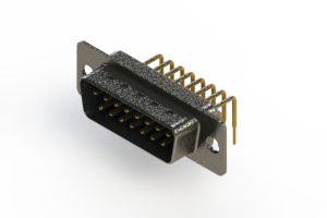 629-M15-640-LT1 - Right Angle D-Sub Connector