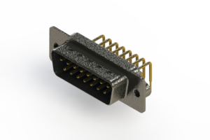 629-M15-640-LT2 - Right Angle D-Sub Connector