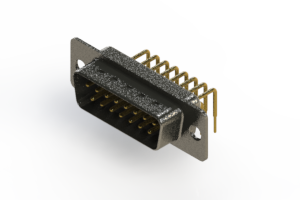 629-M15-640-WT1 - Right Angle D-Sub Connector