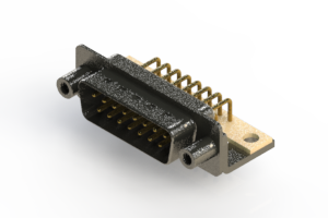 629-M15-640-WT6 - Right Angle D-Sub Connector