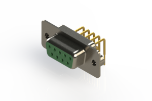 630-M09-640-GN2 - Right Angle D-Sub Connector
