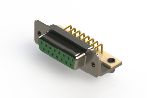 630-M15-640-GN3 - Right Angle D-Sub Connector
